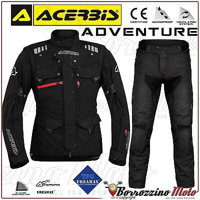 Kit Moto Acerbis Adventure Imperméable Enduro Touring Noir Veste M Pantalon 48