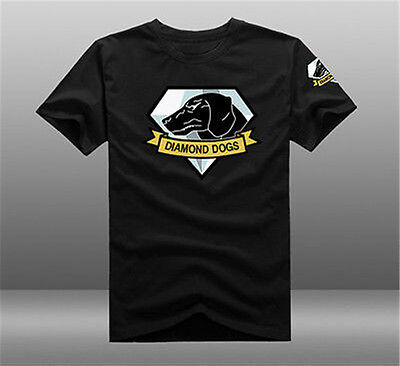 MGS Metal Gear Solid V 5 The Phantom Pain Diamond Dogs Logo Short Sleeve T-shirt