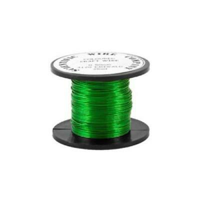 1 x Bright Green Plated Copper 0.5mm x 15m Round Craft Wire Coil W5120