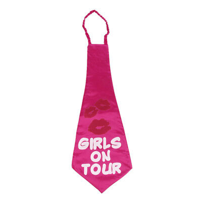 Girls on Tour Party Tie Funny Accessory for Hen Night Hen Party Rose Red