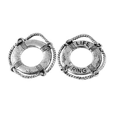 Pack of 10 x Antique Silver Tibetan 24mm Charms (Life Ring) HA09055