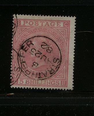 Great  Britain  57 pl 2   used  great cancel 1882  catalog $1,200.00    MS0306