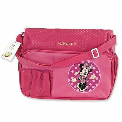 Disney Baby Minnie Mouse Deluxe Diaper Bag with Diaper Pad