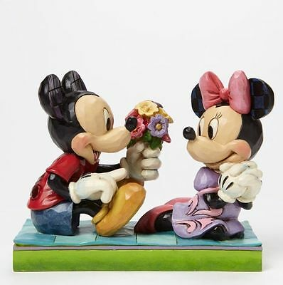 Disney Jim Shore I Picked This Just For You Mickey & Minnie Figurine #4046066