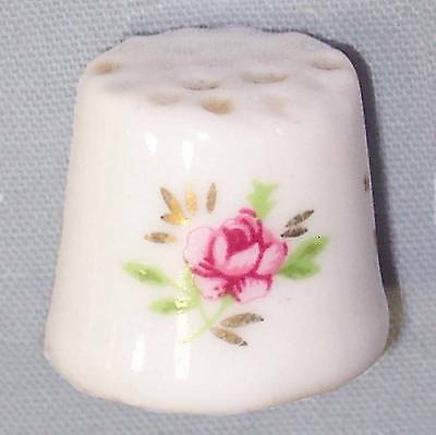 China thimble with painted rose 15.5mm ᴾ