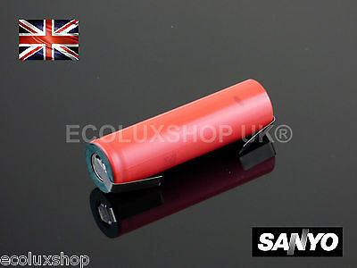 Sanyo NCR 18650 BF B Li-Ion 3400mAh 3.7v Rechargeable Battery Tabs Tags Tagged