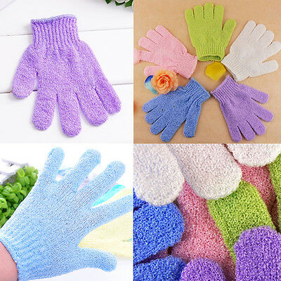 4-1x Exfoliating Gloves Mitt Bath Shower Scrub Tan Dead Skin Removal Exfoliator