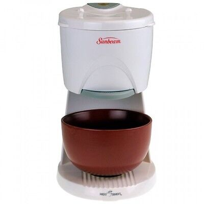Sunbeam 6142 Hot Shot Hot Water Dispenser with Red Ceramic Bowl, White, New