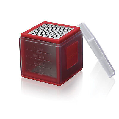 Microplane 3-in-1 Cube Grater, Red