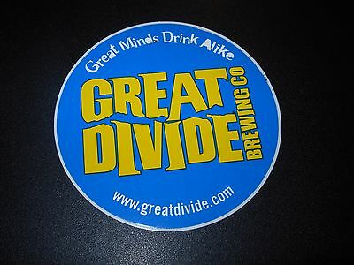 GREAT DIVIDE BREWING CO Blue CIRCLE LOGO STICKER decal craft beer brewery YETI