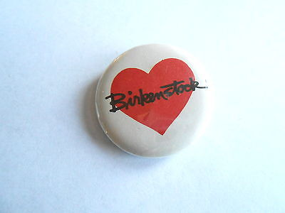 Cool Vintage Birkenstock Hear of Love of the Shoes Advertising Pinback