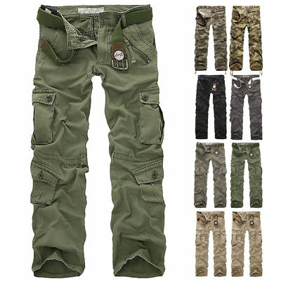 1 PC Combat Men's Cotton Cargo ARMY Pants Military Camouflage Camo Trousers New