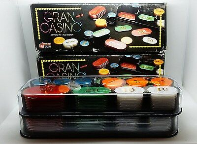 2 Boxed Sets Italian European Style Casino Counters Checks Chips Made in Italy