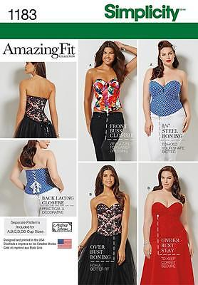 SIMPLICITY SEWING PATTERN Misses' & Plus Size Corsets 10-18 & 20W - 28W 1183