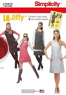SIMPLICITY SEWING PATTERN Misses' vintage Jiffy dress size 6 - 22 1252