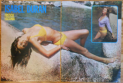 ISABEL DURAN 1973 3 page article sexy photos spanish actress magazine clippings
