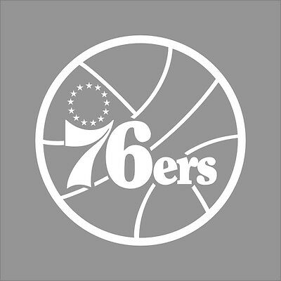 Philadelphia 76ers #2 NBA Team Logo 1Color Vinyl Decal Sticker Car Window Wall
