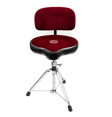 Roc n Soc Moto Seat Drum Stool Throne Seat With Backrest RED