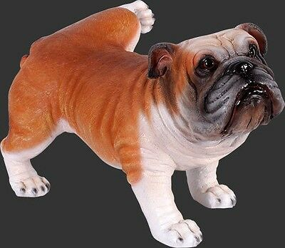 Bulldog Peeing Statue Life Size Statue Prop Display - LM Treasures