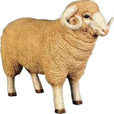 Sheep Statue Life Size Merino Ram Lamb Sheep Farm Animal Display Prop