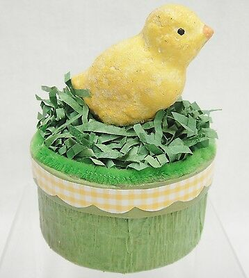 Chick Figurine on Paper Candy Box Easter Spring Decoration