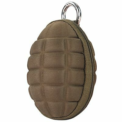 Condor Grenade Keychain Zippered Coin Money Change Wallet Pocket Pouch Tan