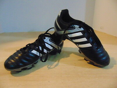 Soccer Shoes Cleats Children's Size 12 Adidas Black White Grey
