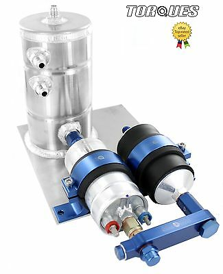 Bosch 044 Fuel Pump With Bosch Fuel Filter Swirl Surge Pot Assembly In BLUE