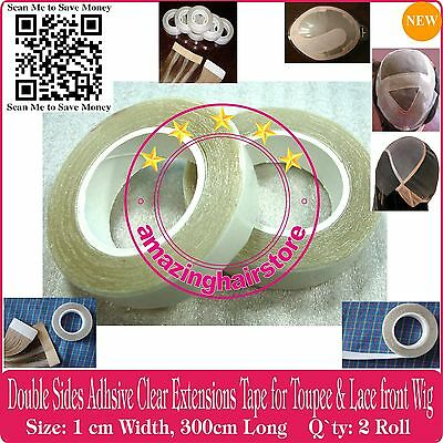 12X Secure Double Sided Tapes for Lace Front Wigs Skin Weft Tape Hair Extensions