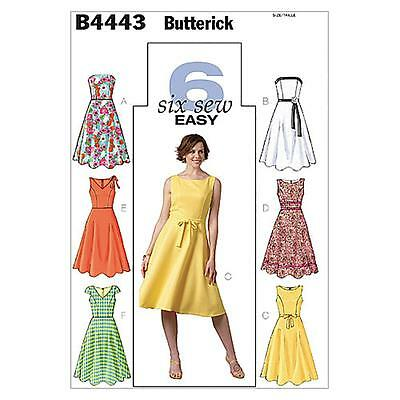 Butterick Sewing Pattern Misses' Dress Size 8 - 22 B4443