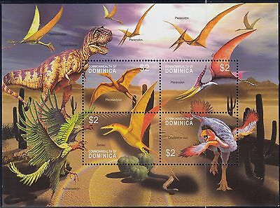 (74704) Dominica MNH Prehisotic Animals Minisheet 2005 u/m mint