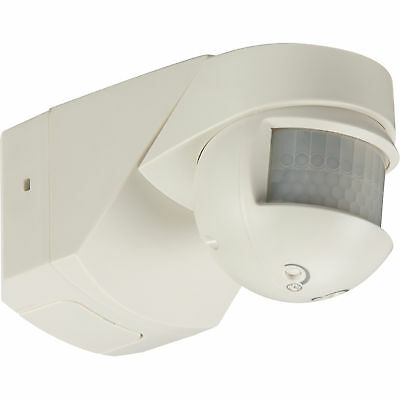 Knightsbridge 200° Professional Outdoor PIR Motion Sensor Home Security - White
