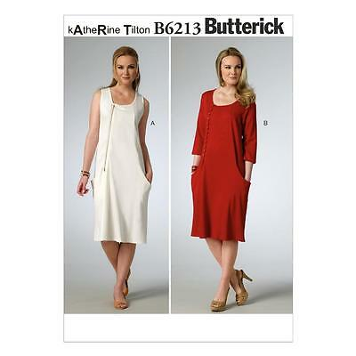 BUTTERICK EASY SEWING Pattern Misses\' Pullover Dress 8 - 24 B6051 ...
