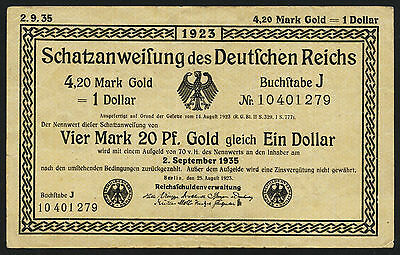 Ro.151b 4,20 Mark Gold = 1 Dollar 1923 (3)