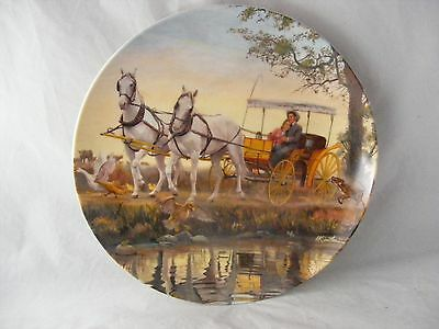 Oklahoma Collector Plate Surrey With Fringe on Top White Horses Mort Kunstler