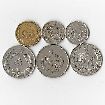 Iran - Lot of 6 Coins #793