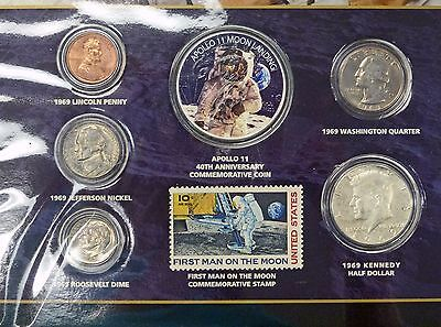 {BJStamps} 1969 40th Anniversary Apollo II Moon Landing Colorized $1 2009 EAGLE