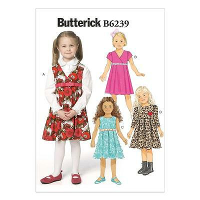 BUTTERICK SEWING PATTERN Toddlers\'/children\'s Dress Size 1 - 6 B6239 ...