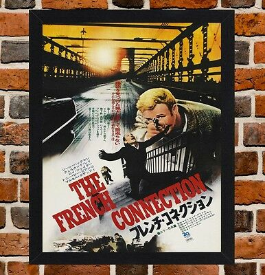 Framed The French Connection Japanese Film Poster A4 / A3 Size In Black Frame