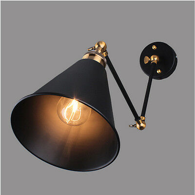 Industrial Vintage Wall Lights Aisle/Bar Light Double Retractable Wall Lamp 5554