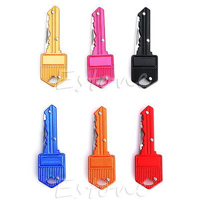 New Stainless Steel Outdoor Multi Keychain Key Shape Folding Pocket Knife Tool