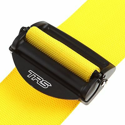 """TRS 2"""" Yellow 4 Point Clubman Saloon Seat Safety Harness - MH340-1004"""