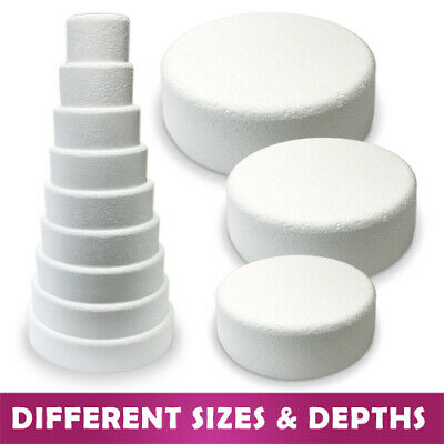Bevelled Edge Round Cake Dummy - Rounded Edge Chamfered - Polystyrene Sugarcraft