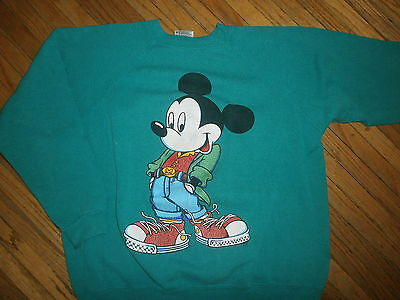 vtg 80s 90s MICKEY MOUSE SWEATSHIRT Disney Hip Retro Throwback Dresser Stylish