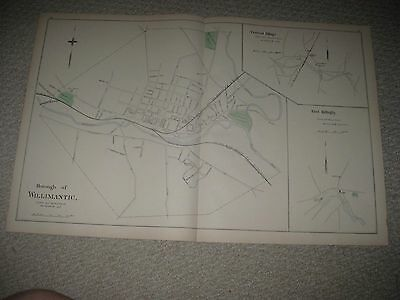 Antique Willimantic Brooklyn Windham Moosup Dayville Plainfield Connecticut Map