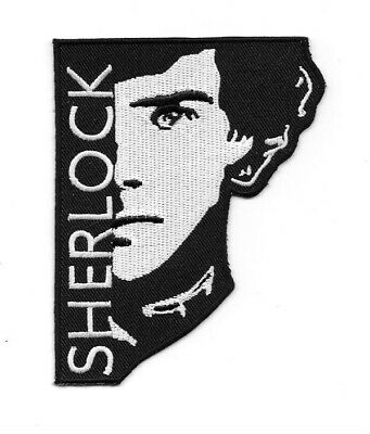 "Sherlock TV Series Face Silhouette Logo 4"" High Embroidered Patch NEW UNUSED"