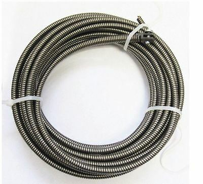 New 50-FT Auger Cable Replacement Drain Pipe Snake Clog Sewer Cleaner Plumbing