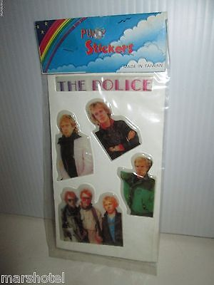 The Police Sting Vintage Vinyl Puffy Stickers 1980's Sealed Pack