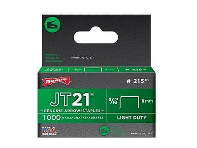 Arrow 215 staples jt21 t27 (1000) 8mm 5/16in ARRJT21516S