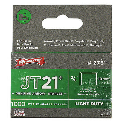 Arrow 276 staples jt21 t27 (1000) 10mm 3/8in ARRJT2138S